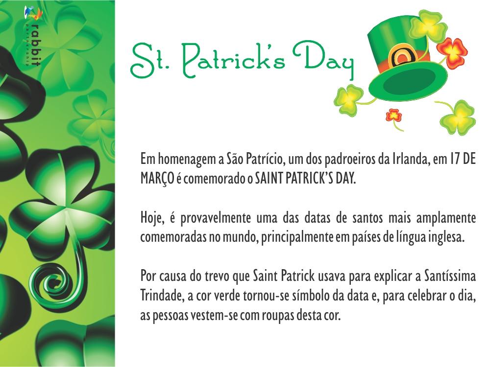 17 de março – St. Patrick's Day